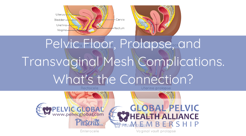 Elizabeth Carrollton discusses the connection between pelvic floor, prolapse, and transvaginal mesh complications.