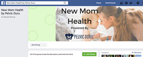 New Mom Health Facebook private group